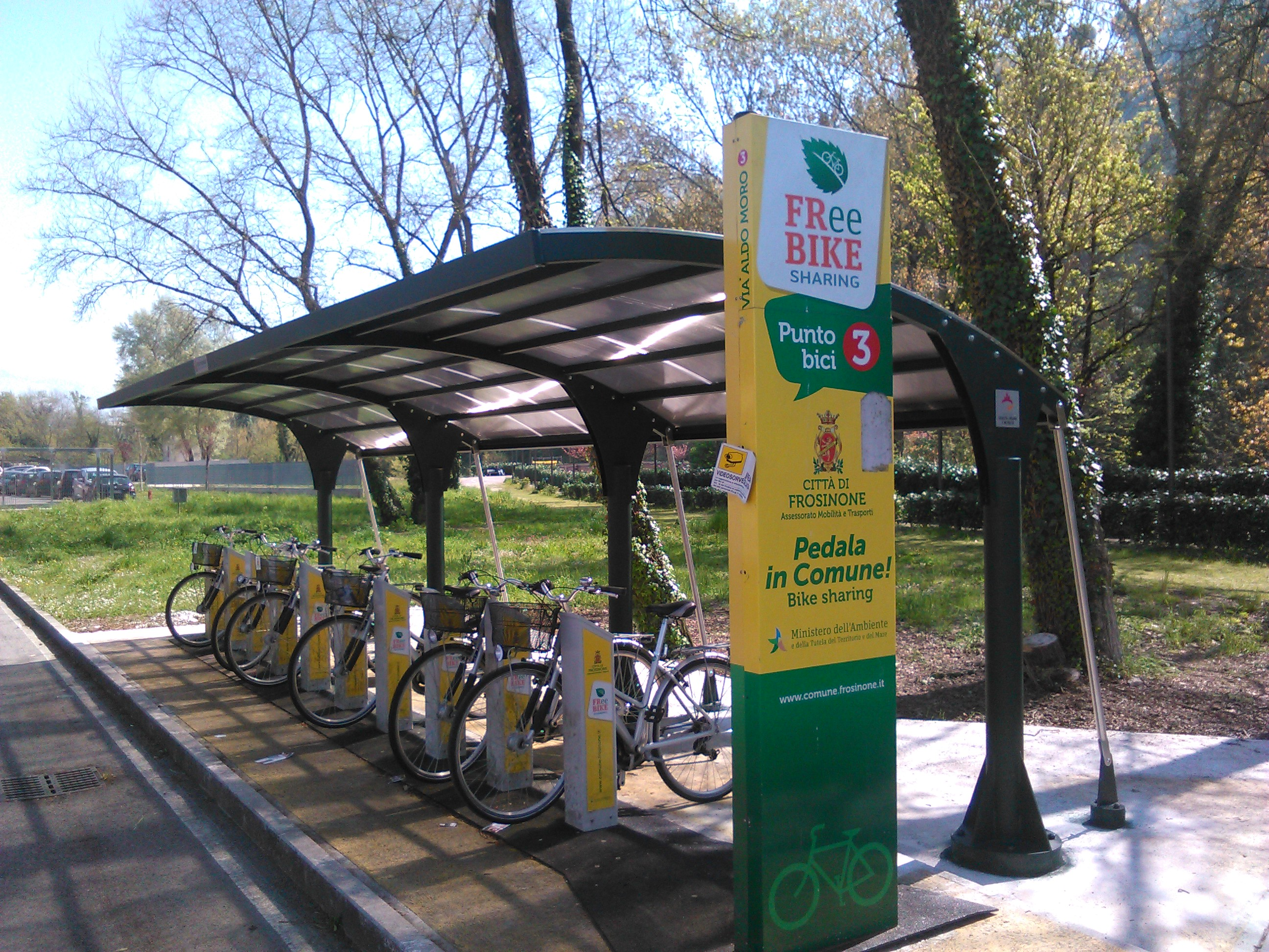 Frosinone, bike sharing gratuito per gli studenti.